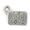 Pendant With Made With Love Antique Pewter